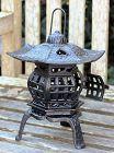 Black Lacquered Metal Garden Lantern