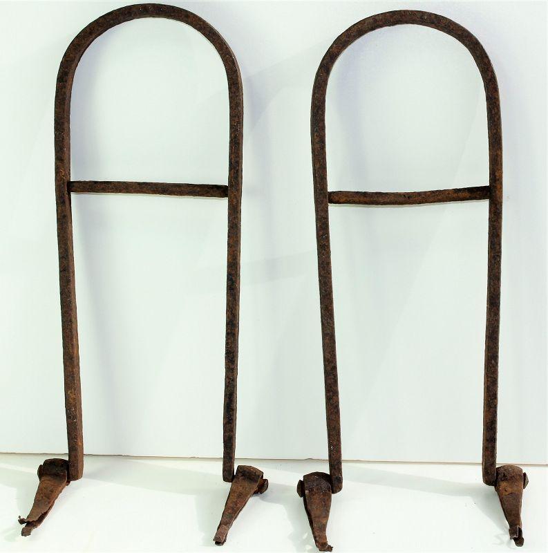 Japanese Black Wrought Iron Side Locks & 2 Handle Set for Tansu