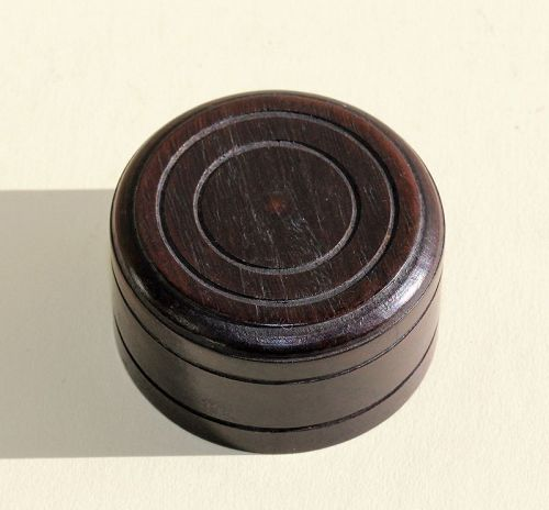 Chinese carved Wood Round Top or Cover for Tea Caddy or Tea Jar