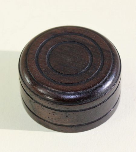 Chinese carved Wood round cover or top for Tea jar or Tea Caddy