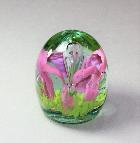 Vintage Glass Paperweight, Bookend