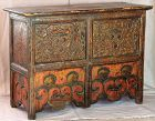 Tibetan Lacquered Wooden Monk's Pray Table, from Monastery