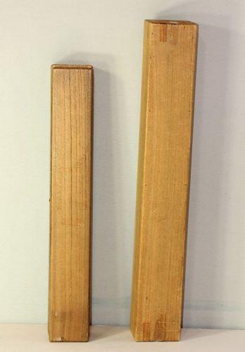 2 Japanese Kiri Wood Scroll storage Box
