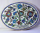 Persian Pottery Tile, large Floral design