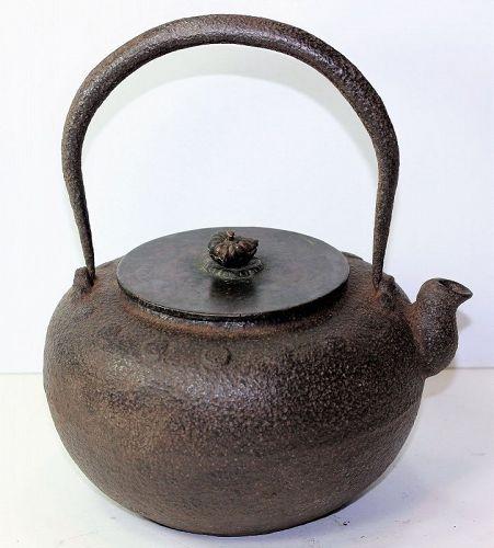 Japanese Cast Iron Tetsubin, Tea kettle by Ryobundo