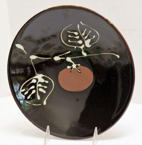 Japanese Ceramic Persimmon design Charger, serving Dish