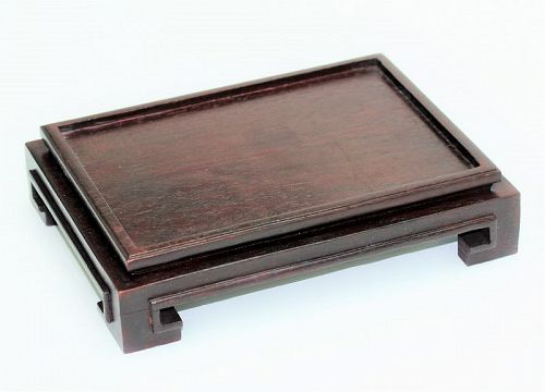 """Hong Kong"" made Hardwood Display Stand, Rectangle shape"
