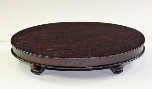 """""""Hong Kong"""" made Hardwood Oval shape Display Stand"""