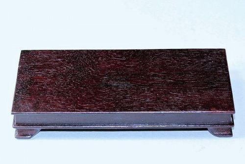 """Hong Kong"" made Hardwood Rectangle shape Display Stand"