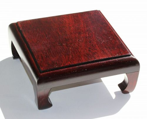 Chinese Hardwood Square shape high display Stand