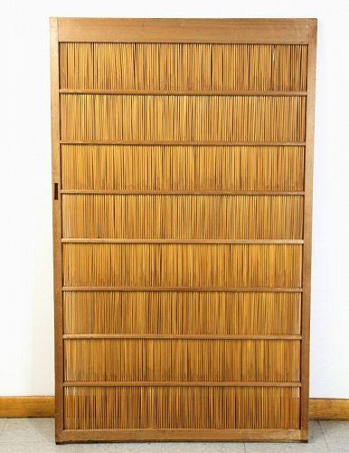 Japanese Sliding Door, Reed & Kiri Wood Frame