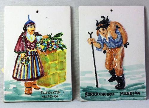 2 Portuguese Ajores Ceramic Tiles