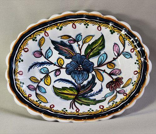Portuguese Ceramic deep Soap Dish