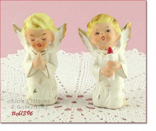 KNEELING ANGEL FIGURINES (2)