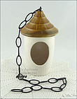 McCOY POTTERY � BIRD FEEDER (WITH HANGING CHAIN)