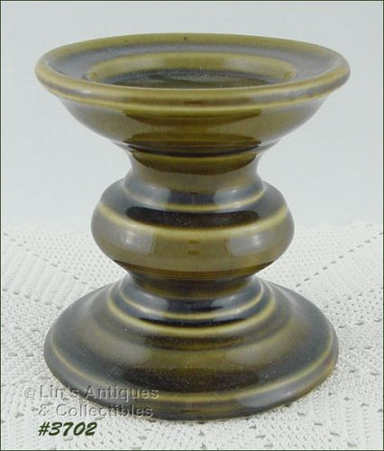 McCOY POTTERY LARGE GREEN CANDLE HOLDER