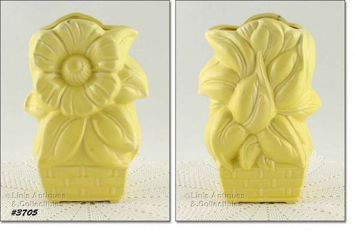 McCOY POTTERY � SUNFLOWER VASE (YELLOW)