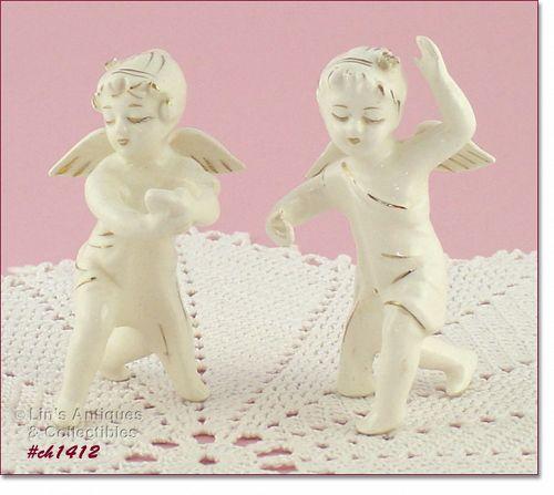 VINTAGE ANGEL CANDLE HUGGERS