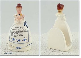ENESCO PRAYER LADY NAPKIN LADY (WHITE DRESS)