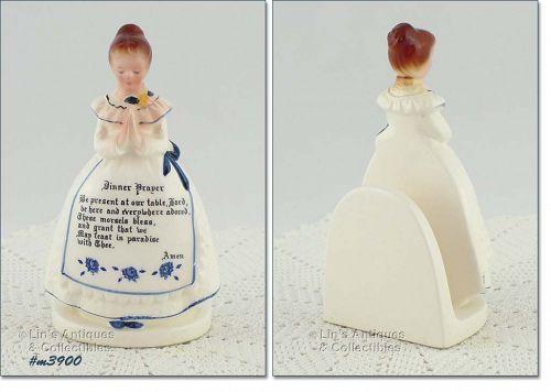 ENESCO PRAYER LADY NAPKIN LADY (WHITE DRESS)