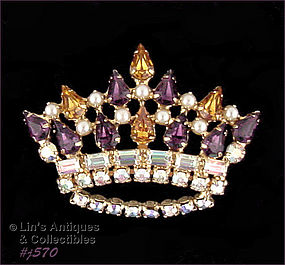 CROWN PIN BY B. DAVID (IN ORIGINAL BOX)