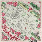 STATE SOUVENIR HANKY, WASHINGTON �THE EVERGREEN STATE�