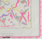 LEAPING POODLES HANDKERCHIEF