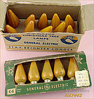 YELLOW C-6 BULBS IN ORIGINAL BOXES