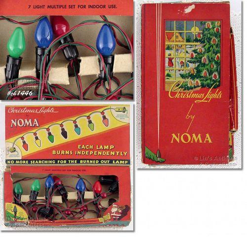Vintage Noma Christmas Lights in Original Box
