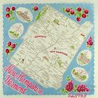 STATE SOUVENIR HANDKERCHIEF, NEW HAMPSHIRE AND VERMONT