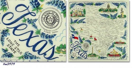 STATE SOUVENIR HANKY, TEXAS �THE LONE STAR STATE�