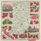 STATE SOUVENIR HANKY, INDIANA �THE HOOSIER STATE�