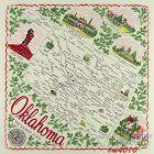 STATE SOUVENIR HANKY, OKLAHOMA �THE SOONER STATE�