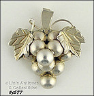 SILVER GRAPE CLUSTER PIN / PENDANT