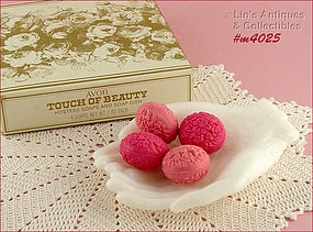 AVON � TOUCH OF BEAUTY SOAPS AND DISH (MIB)