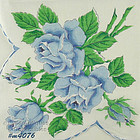 BLUE ROSES LARGER SIZE HANDKERCHIEF
