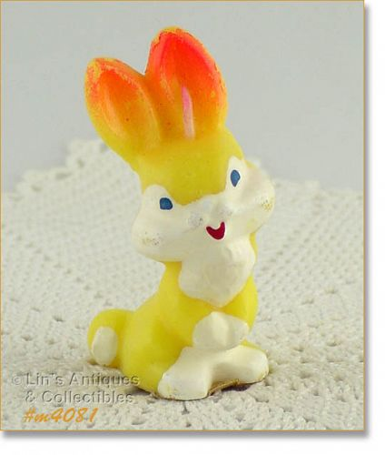 VINTAGE GURLEY CANDLE COMPANY LITTLE BUNNY 3 1/2 INCHES TALL