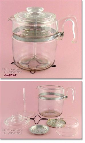 PYREX 9 CUP COFFEE MAKER COFFEE POT WITH HEAT DIFFUSER