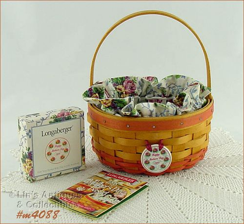 LONGABERGER 1998 RINGS AND THINGS BASKET MOTHER�S DAY BASKET