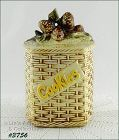 McCOY POTTERY � PINE CONES BASKETWEAVE COOKIE JAR