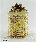 McCOY POTTERY � PINE CONES BASKETWEAVE COOKIE JAR