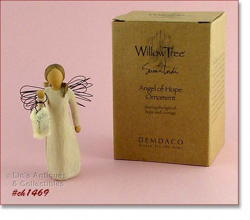 WILLOW TREE ANGEL OF HOPE ORNAMENT MINT IN ORIGINAL BOX