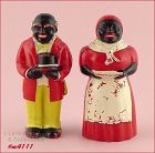 AUNT JEMIMA (MAMMY) AND UNCLE MOSE SHAKER SET