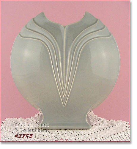 McCOY POTTERY � FREE FORM LARGE VASE (GRAY)