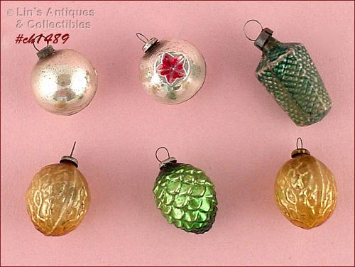 VINTAGE GLASS ORNAMENT ASSORTMENT