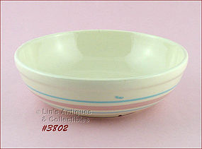 McCOY POTTERY � PINK AND BLUE SERVING BOWL