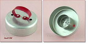ALUMINUMWARE -- RED HANDLE BISCUIT / DOUGHNUT CUTTER