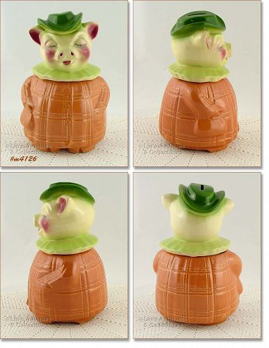 SHAWNEE POTTERY WINNIE THE PIG COOKIE JAR AND BANK