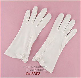 LOVELY WHITE GLOVES (SIZE 6 - 6 1/2)