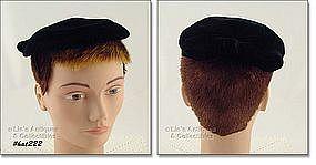 BLACK VELVET HAT